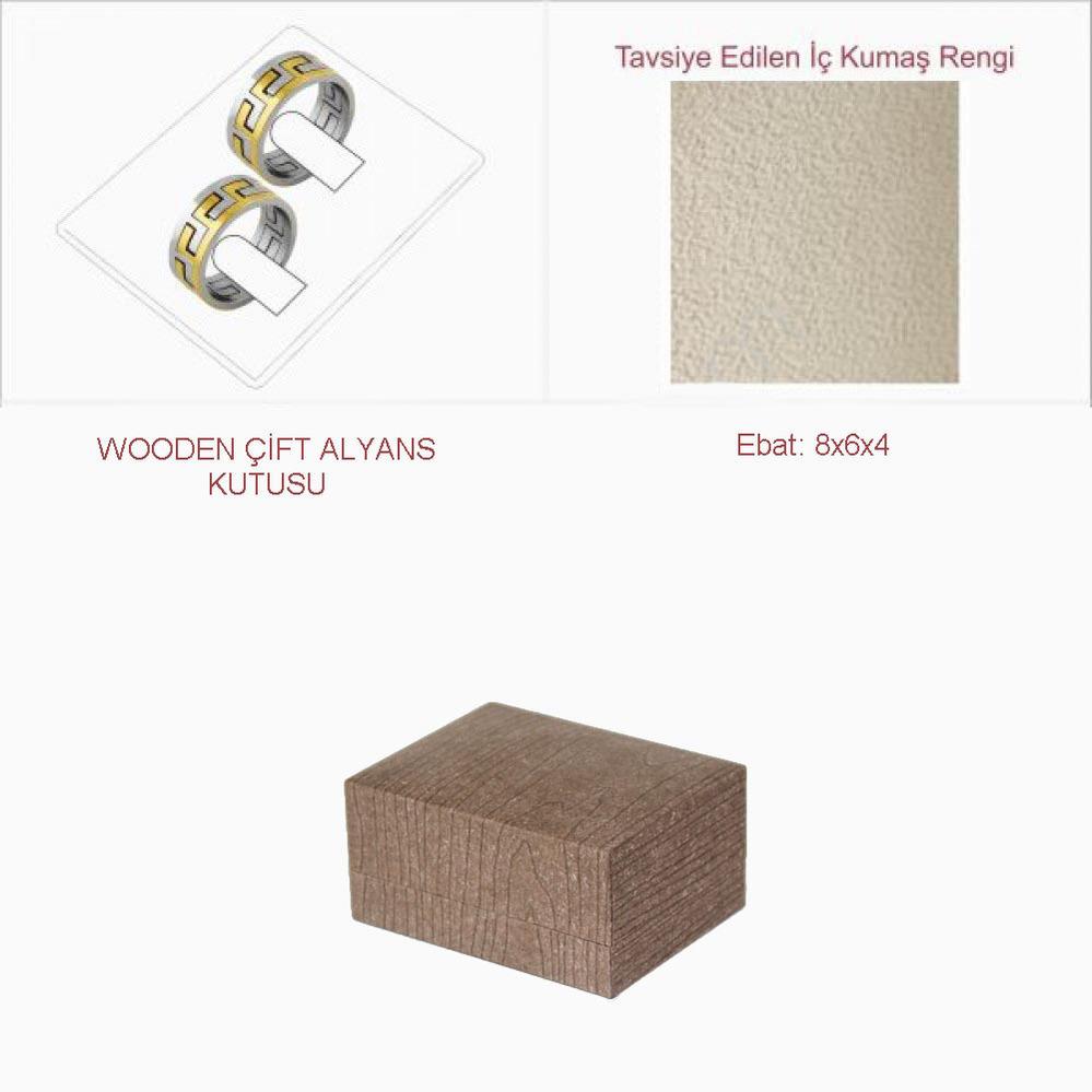 Wooden Çift Alyans Kutusu