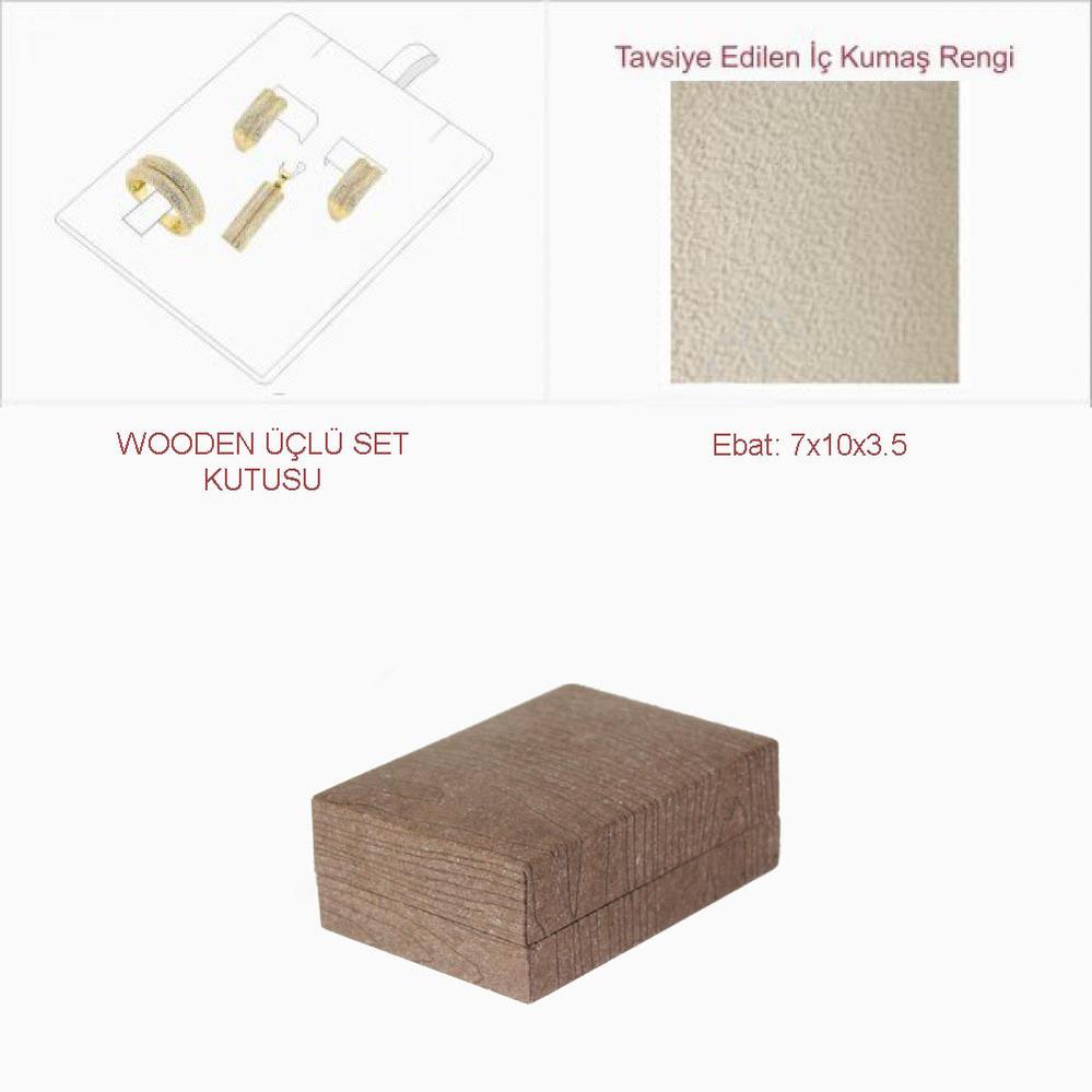 Wooden Üçlü Set Kutusu