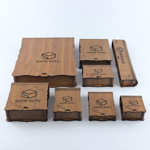 Ahşap Lazer Kesim Kutular - Kampanyalı Set