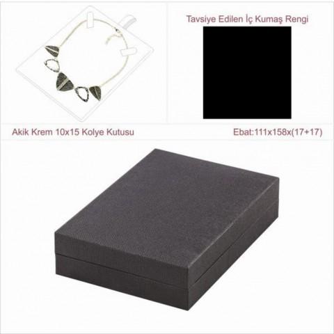 Astarya Siyah 10x15 Kolye Kutusu