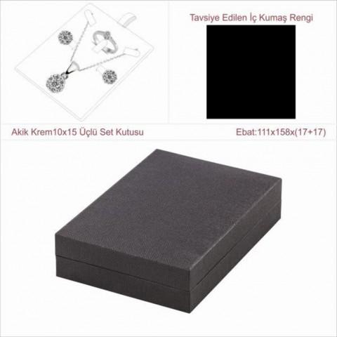 Astarya Siyah 10x15 Üçlü Set Kutusu