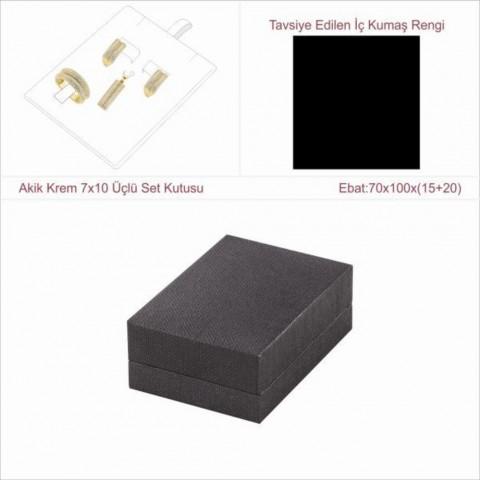Astarya Siyah 7x10 Üçlü Set Kutusu
