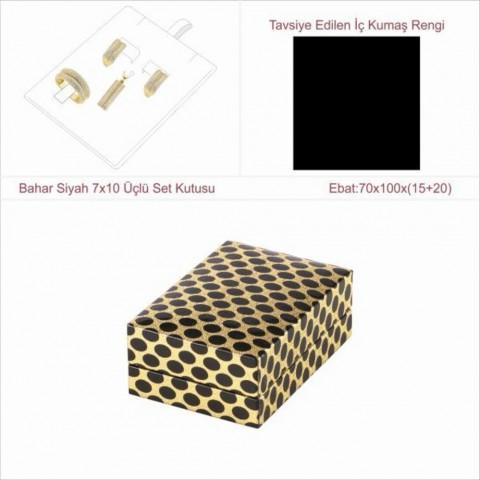 Bahar Siyah 7x10 Üçlü Set Kutusu 10 Adet