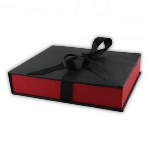 Dikişli Set Kutusu Kırmızı Siyah