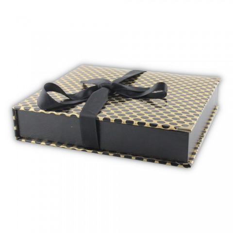Dikişli Set Kutusu Sarı-Siyah