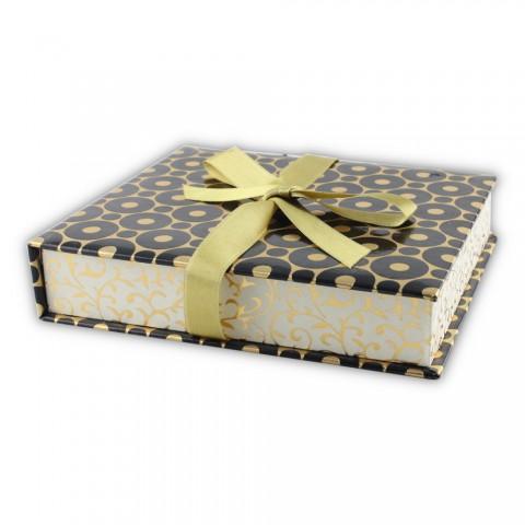 Dikişli Set Kutusu Siyah Sarı