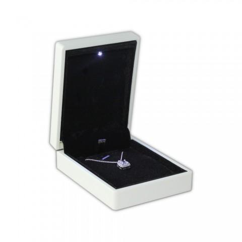 Işıklı Kolye Kutusu - Beyaz