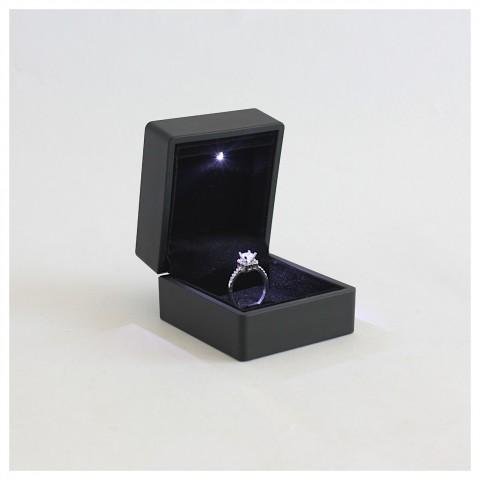 Işıklı Yüzük Kutusu 20 Adet -Siyah