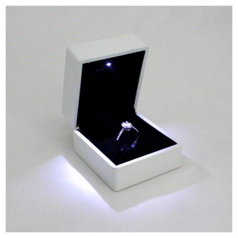 Işıklı Yüzük Kutusu- Beyaz