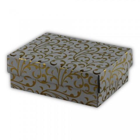 Katlamalı Kolye Kutusu Beyaz-Altın 50 Adet