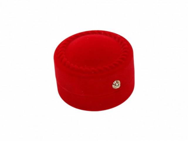 Kadife Yuvarlak Kırmızı Yüzük Kutusu 12 Adet