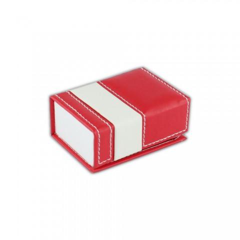 Kırmızı Karton Deri Çift Alyans Kutusu 6 Adet