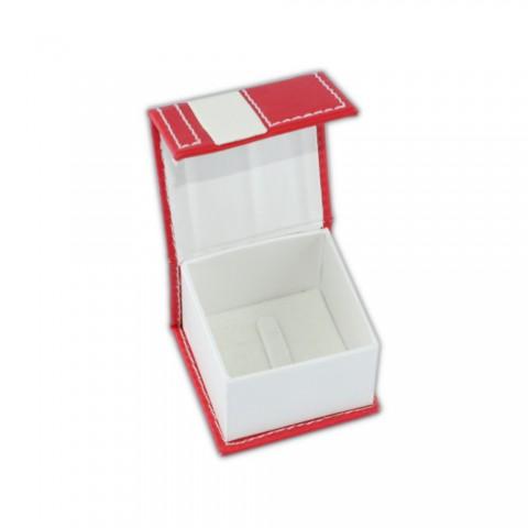 Kırmızı Karton Deri Yüzük Kutusu 6 Adet