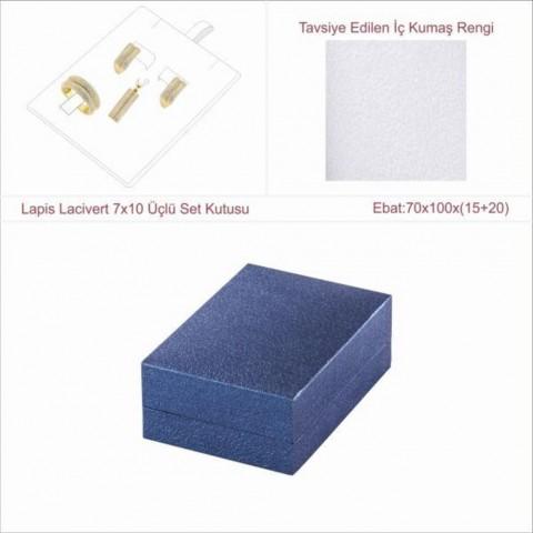 Lapis Lacivert 7x10 Üçlü Set Kutusu