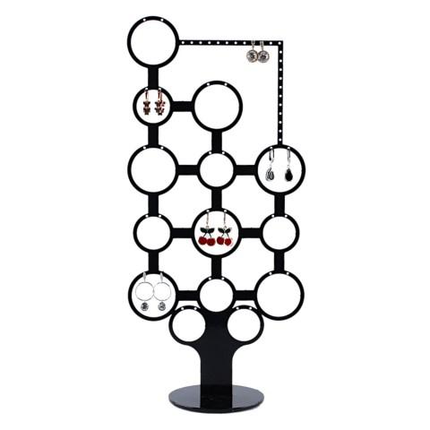 Metal Yuvarlak Çoklu Küpe Standı Kuyumcu Vitrini Küpelik Küçük
