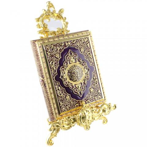 Mor Kur'an-ı Kerim Kutusu Küçük Boy