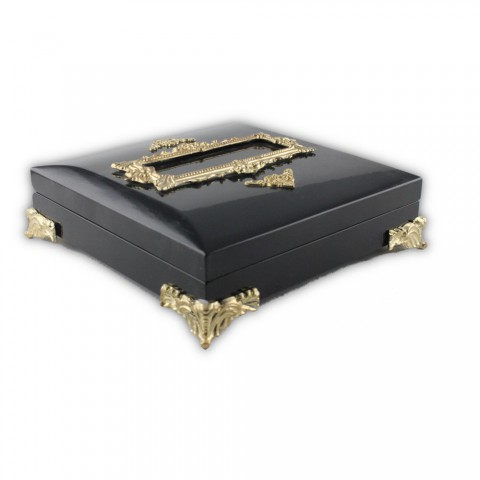 Özel Ahşap Tesbih Koleksiyon Kutusu Siyah