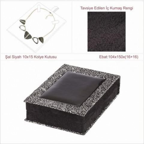 Şal Siyah 10x15 Kolye Kutusu