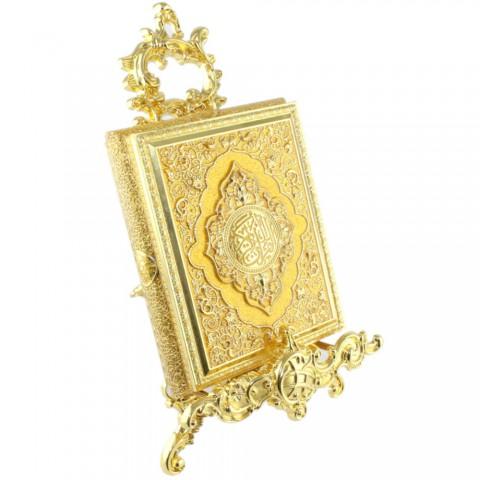Sarı Kur'an-ı Kerim Kutusu  Küçük Boy