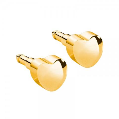 Şekilli Altın Kaplama Medikal Kulak Delme Küpesi 12 Çift