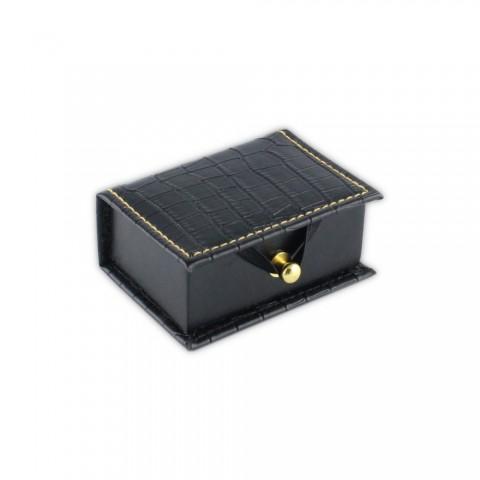 Siyah Karton Krokodil Alyans Kutusu 6 Adet