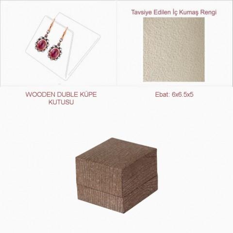 Wooden Duble Küpe Kutusu