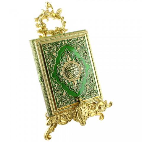 Yeşil Kur'an-ı Kerim Kutusu Küçük Boy